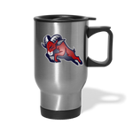 HOUSTON BIGHORNS TRAVEL MUG - silver