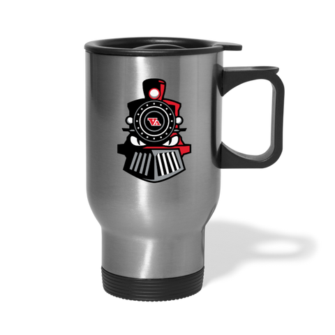 VIRGINIA IRON HORSES TRAVEL MUG - silver