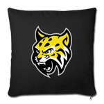 ATLANTA WILDCATS THROW PILLOW - black