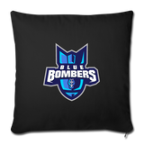 INDIANA BLUE BOMBERS THROW PILLOW - black