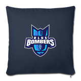 INDIANA BLUE BOMBERS THROW PILLOW - navy