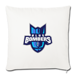 INDIANA BLUE BOMBERS THROW PILLOW - natural white
