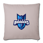 INDIANA BLUE BOMBERS THROW PILLOW - light taupe