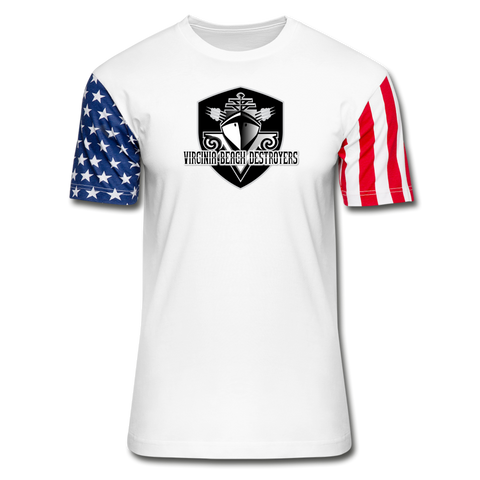 VIRGINIA BEACH DESTROYERS Stars & Stripes T-Shirt - white