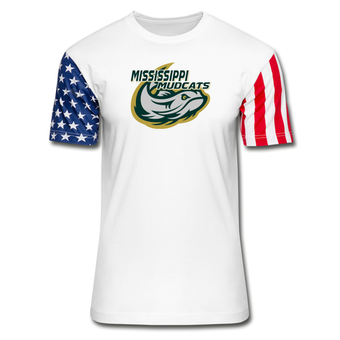 MISSISSIPPI MUDCATS Stars & Stripes T-Shirt - white