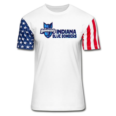 INDIANA BLUE BOMBERS Stars & Stripes T-Shirt - white
