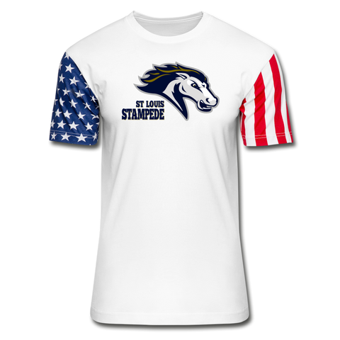 ST LOUIS STAMPEDE Stars & Stripes T-Shirt - white
