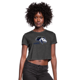ST LOUIS STAMPEDE WOMEN'S CROPPED TEE - deep heather