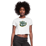 MISSISSIPPI MUDCATS WOMEN'S CROPPED TEE - white