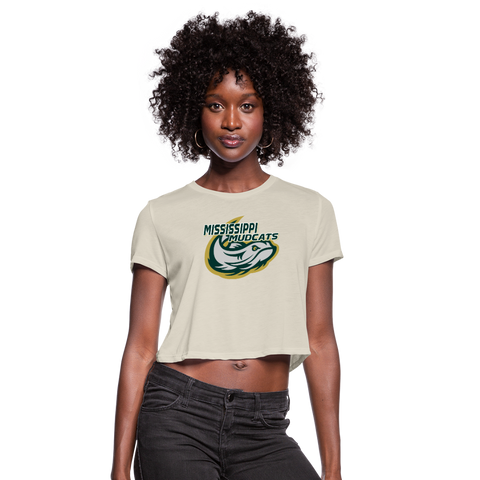 MISSISSIPPI MUDCATS WOMEN'S CROPPED TEE - dust