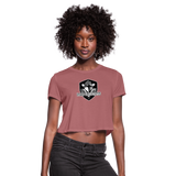 VIRGINIA BEACH DESTROYERS WOMEN'S CROPPED TEE - mauve