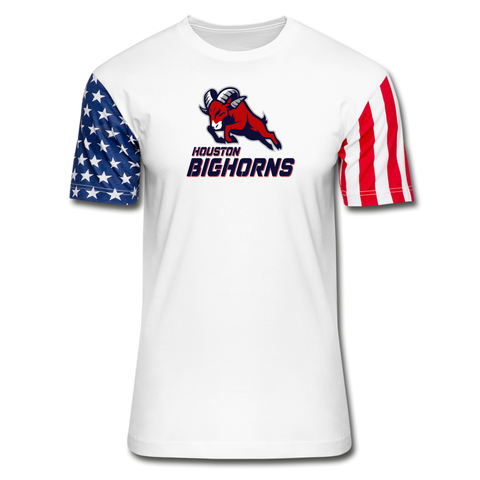 HOUSTON BIGHORNS Stars & Stripes T-Shirt - white