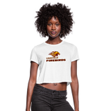 LOUISVILLE FIREBIRDS WOMEN'S CROPPED TEE - white