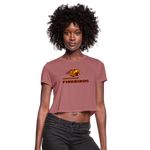 LOUISVILLE FIREBIRDS WOMEN'S CROPPED TEE - mauve