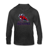 HOUSTON BIGHORNS Unisex Tri-Blend Hoodie Shirt - heather black