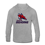 HOUSTON BIGHORNS Unisex Tri-Blend Hoodie Shirt - heather gray