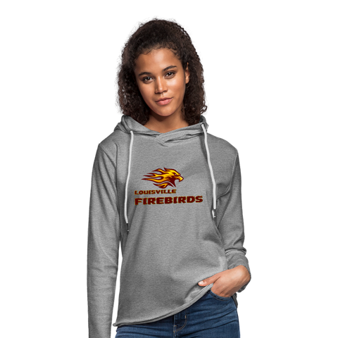 LOUISVILLE FIREBIRDS Unisex Lightweight Terry Hoodie - heather gray