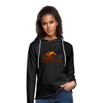 LOUISVILLE FIREBIRDS Unisex Lightweight Terry Hoodie - charcoal gray