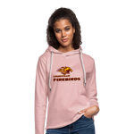 LOUISVILLE FIREBIRDS Unisex Lightweight Terry Hoodie - cream heather pink