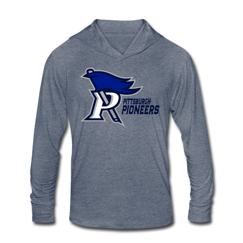 PITTSBURGH PIONEERS Unisex Tri-Blend Hoodie Shirt - heather blue