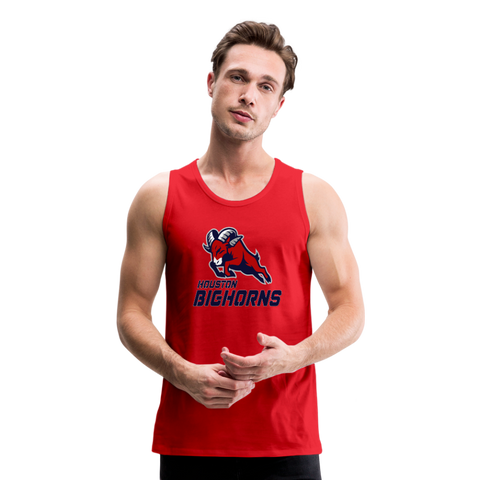HOUSTON BIGHORNS Men's Premium Tank - red