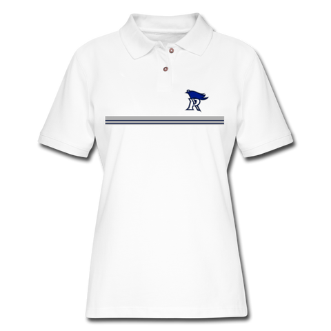 PITTSBURGH PIONEERS Women's Pique Polo Shirt - white