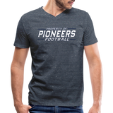 PITTSBURGH PIONEERS Men's V-Neck T-Shirt - heather navy