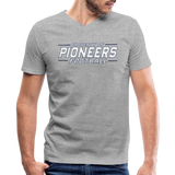 PITTSBURGH PIONEERS Men's V-Neck T-Shirt - heather gray