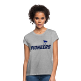 PITTSBURGH PIONEERS Women's Relaxed Fit T-Shirt - heather gray