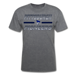 PITTSBURGH PIONEERS UNISEX TEE - mineral charcoal gray