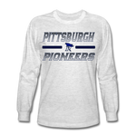 PITTSBURGH PIONEERS Men's Long Sleeve T-Shirt - light heather gray