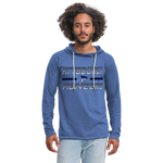 PITTSBURGH PIONEERS Unisex Lightweight Terry Hoodie - heather Blue