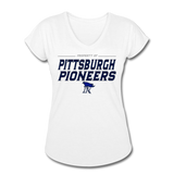 PITTSBURGH PIONEERS Women's Tri-Blend V-Neck T-Shirt - white
