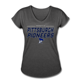 PITTSBURGH PIONEERS Women's Tri-Blend V-Neck T-Shirt - deep heather