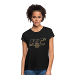 KANSAS CITY KAPITALS SPECIALITY WOMEN'S RELAXED TEE - black