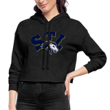 ST LOUIS WOMEN'S SPECIALITY CROPPED HOODIE - deep heather