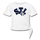 ST LOUIS SPECIALITY WOMEN'S KNOTTED TEE - white