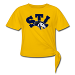 ST LOUIS SPECIALITY WOMEN'S KNOTTED TEE - sun yellow