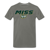 MISSISSIPPI MUDCATS SPECIALITY MEN'S PREMIUM TEE - asphalt gray