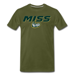 MISSISSIPPI MUDCATS SPECIALITY MEN'S PREMIUM TEE - olive green
