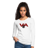 VIRGINIA IRON HORSES WOMEN'S PREMIUM LONG SLEEVE TEE - white