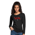 VIRGINIA IRON HORSES WOMEN'S PREMIUM LONG SLEEVE TEE - black