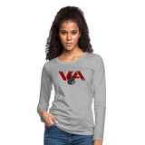 VIRGINIA IRON HORSES WOMEN'S PREMIUM LONG SLEEVE TEE - heather gray