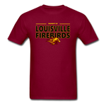 LOUISVILLE FIREBIRDS UNISEX TEE - burgundy