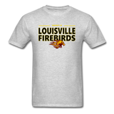 LOUISVILLE FIREBIRDS UNISEX TEE - heather gray