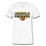 LOUISVILLE FIREBIRDS MEN'S V-NECK TEE - white