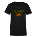 LOUISVILLE FIREBIRDS MEN'S V-NECK TEE - black