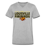 LOUISVILLE FIREBIRDS MEN'S V-NECK TEE - heather gray
