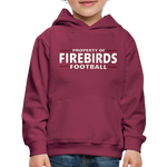 LOUISVILLE FIREBIRDS KID'S PREMIUM HOODIE - burgundy