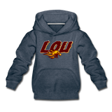 LOUISVILLE FIREBIRDS KID'S PREMIUM HOODIE - heather denim
